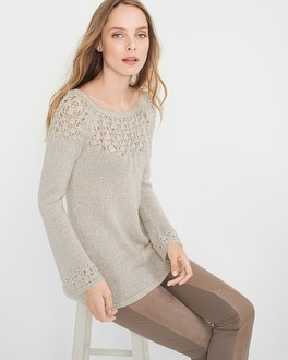 Sequin-Knit Sweater