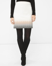 Embroidered Ombre Boot Skirt