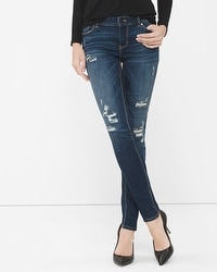 Destructed Sequin Skinny Jeans