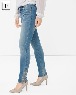 Petite Embroidered Skimmer Jeans