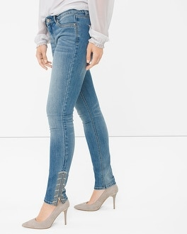 Embroidered Skimmer Jeans