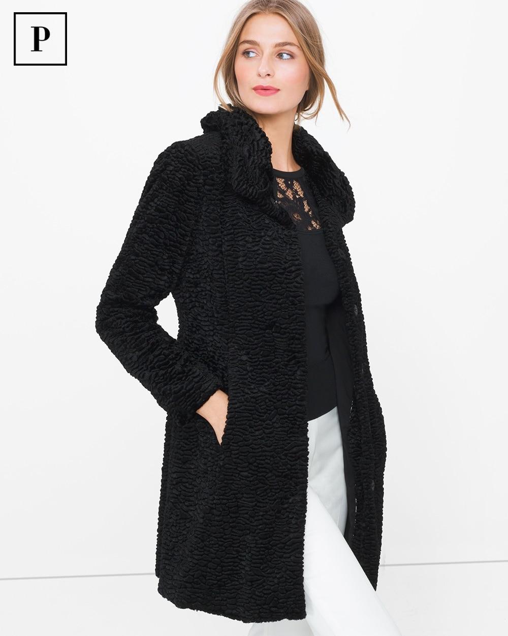 6b6cb71c9a538 Petite Persian Faux-Fur Coat - White House Black Market