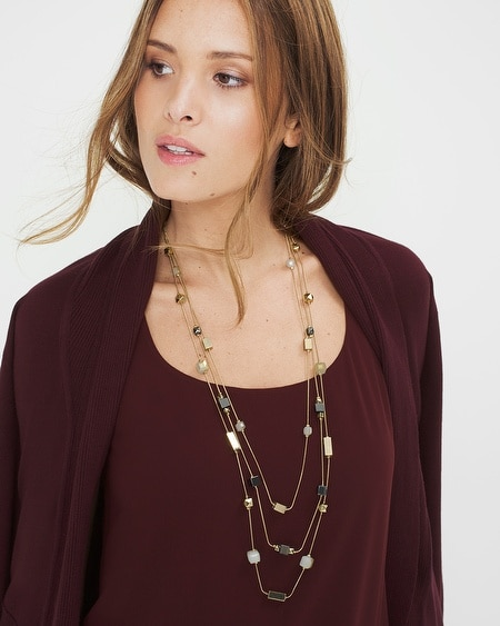 Mixed-Metal Layered Station Necklace