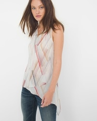 Sleeveless Asymmetric Tunic