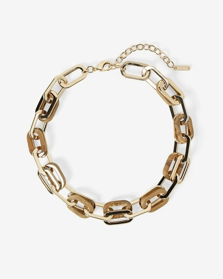 Mixed Chain-Link Short Necklace