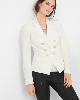 Double-Breasted Jacquard Jacket