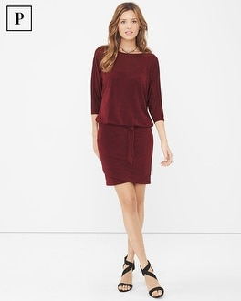 Petite Dolman Sleeve Sweater-Knit Dress