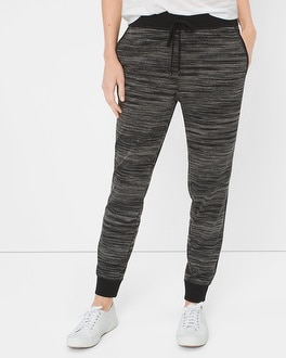 Marled-Knit Jogger Pants