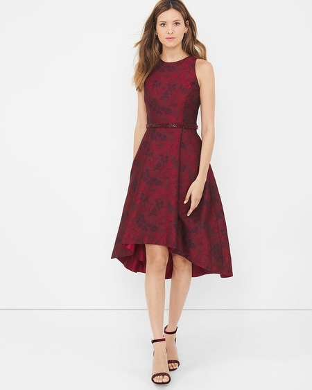 Jacquard High-Low Dress