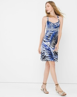 Palm Print Minidress