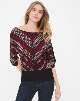 Dolman Sleeve Chevron Sweater