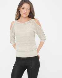 Cold-Shoulder Dolman Sweater