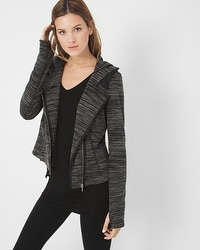 Marled-Knit Jacket