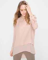 High-Low Woven Tunic