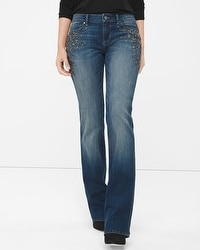 Curvy Embellished Bootcut Jeans