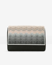Embroidered Flap Clutch