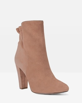 Suede Scrunch-Back Boots
