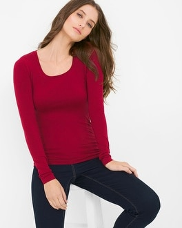 Long-Sleeve Seamless Tee