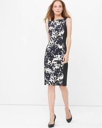 Sleeveless Graphic Floral Sheath Dress
