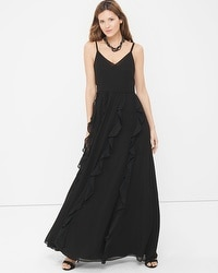 Black Waterfall Gown