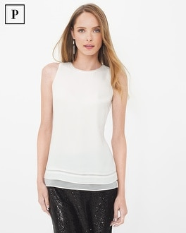 Petite Sleeveless Layering Shell