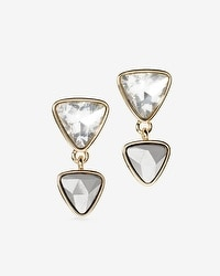 Double-Triangle Drop Earrings