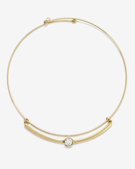 Soft Goldtone Choker Necklace With Crystals From Swarovski