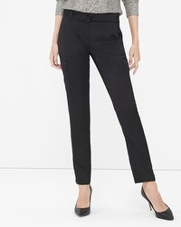 Black Lux Cargo Slim Ankle Pant