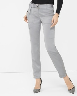 Silver Lux Cargo Slim Ankle Pant