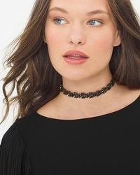 Jet-Stone Choker Necklace