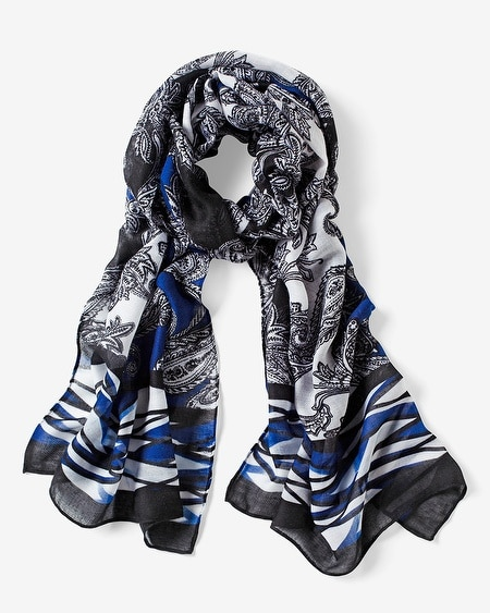 Paisley Printed Oblong Scarf