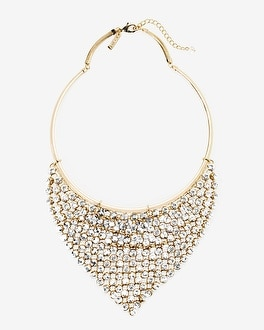 Crystal Stone Collar Bib Necklace