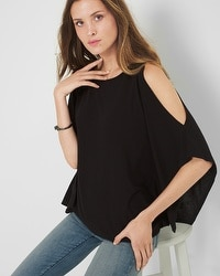 Cold Shoulder Poncho