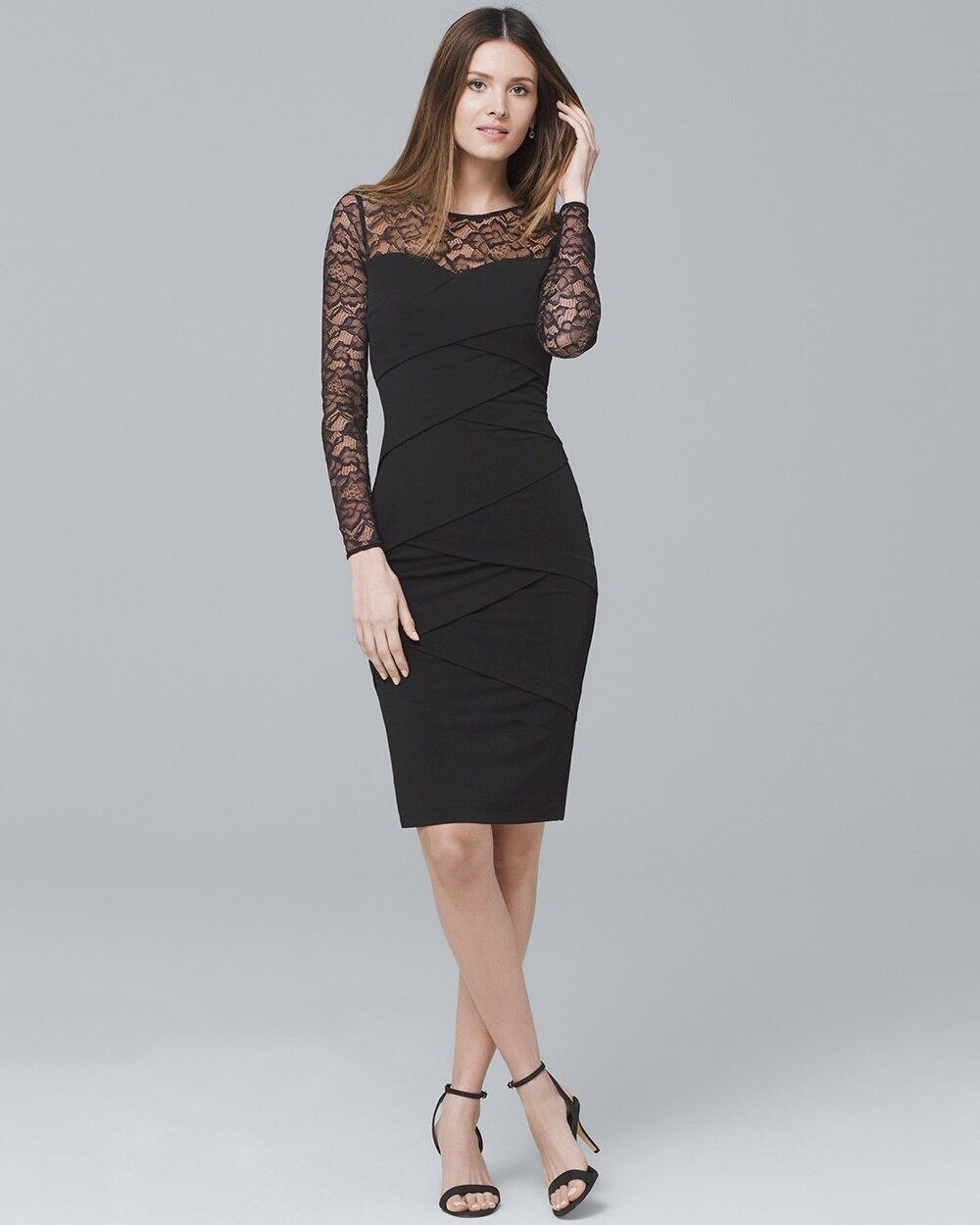 c76d5273843 Black Lace Instantly Slimming Dress - White House Black Market