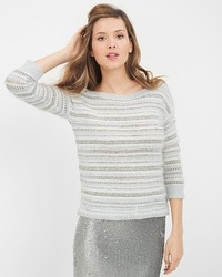 Eyelash-Trim Sweater