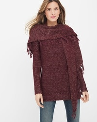Removable Scarf Pullover Sweater