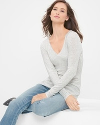 Long-Sleeve V-Neck Tee