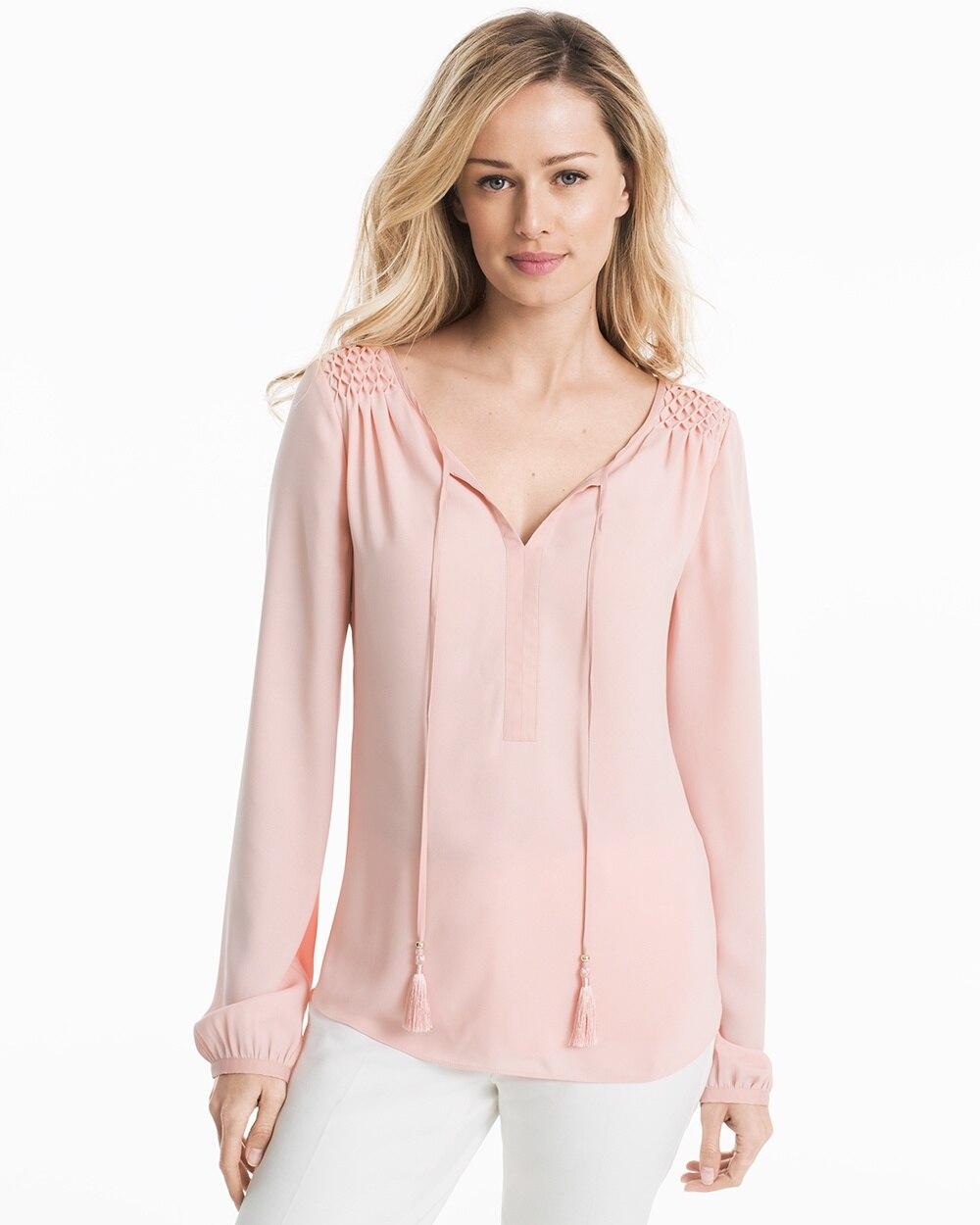 8e639349 Pink Peasant Blouse - White House Black Market