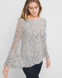 Paisley Bell Sleeve Blouse