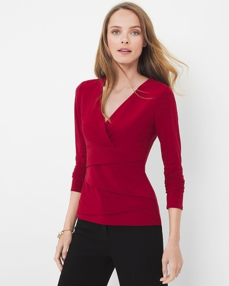 Long-Sleeve Instantly Slimming Top