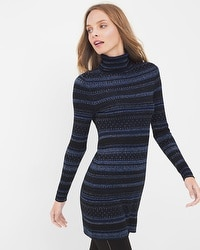 Fair Isles Turtleneck Tunic Sweater
