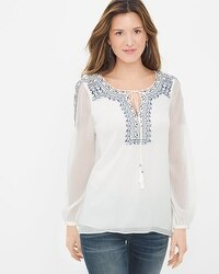 Embroidered Peasant Blouse