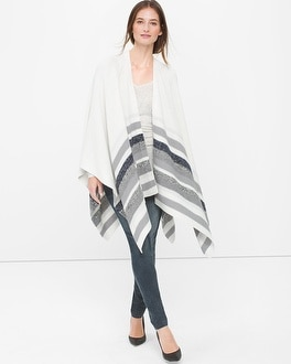 Striped Ruana