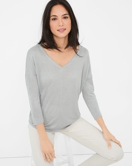 Three Quarter-Sleeve Jetsetter Tee
