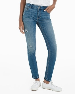Distressed Skimmer Jeans