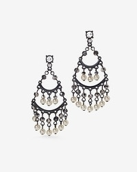 Faux Pearl Drop Chandelier Earrings