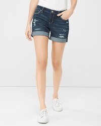 5-inch Destructed Girlfriend Jean Shorts