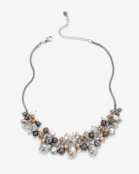 Single Row Metallic Beaded Necklace