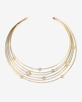 Goldtone Celestial Collar Necklace