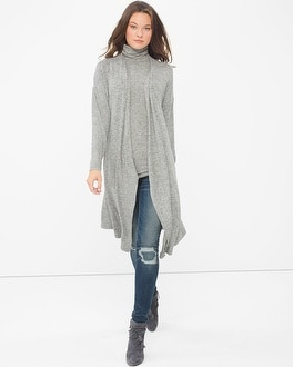 Long-Sleeve Knit Coverup